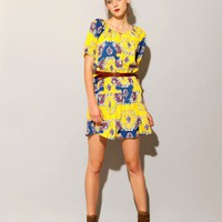 Yellow baroque dress [Saj1045] - $82.00 : Pixie Market, Fashion-Super-Market