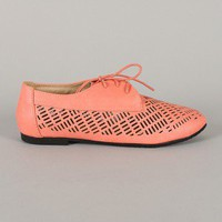 Galen-11 Round Toe Lace Up Oxford Flat
