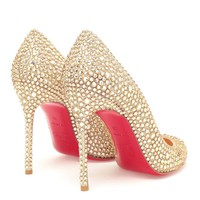 CHRISTIAN LOUBOUTIN | Fifi Swarovski Crystal Embellished Pumps | Browns fashion &amp; designer clothes &amp; clothing