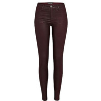 Dark purple coated Molly jeggings - jeggings - jeans - women
