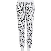 White Mickey Mouse print joggers  - comic - women