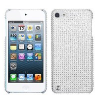 Hard Plastic Silver Diamond Cover for Apple iPod Touch 5 5G 5th Gen