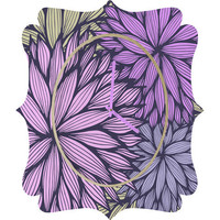 DENY Designs Home Accessories | Gabi Purple Dahlia Quatrefoil Clock