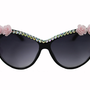 Swarovski Crystal Floral Cat Eye Sunglasses