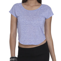 Bi-Blend Cropped Tee  | Shop Tops at Wet Seal