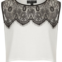 Eyelash Lace Crop Top - Tops - Clothing - Topshop