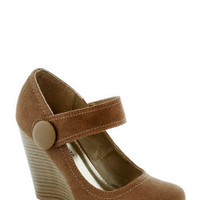 Coffee Study Break Wedge | Mod Retro Vintage Wedges | ModCloth.com