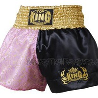 TOP KING Muay Thai short - Sweet - PINK/BLACK [TKTBS-010] - Low prices on thai boxing Shorts