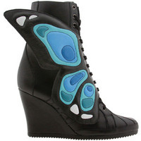 Adidas Womens ObyO JS Wings Wedge - Jeremy Scott (black / white / black) Shoes G61078 | PickYourShoes.com