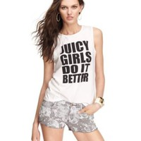 Bold Stripe Cut-Off Jean Short