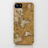 World Treasure Map iPhone & iPod Case by Dave Werner