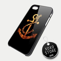 Wood Anchor iPhone 5 4/4S Samsung Galaxy S3 S2 Hard Plastic Case