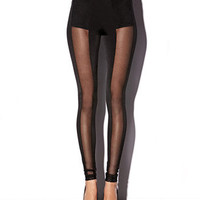 Vertical Mesh Leggings | FOREVER 21 - 2000050372