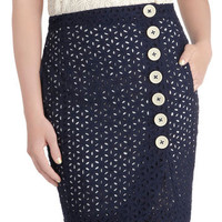 Knitted Dove Working Brunch Skirt | Mod Retro Vintage Skirts | ModCloth.com