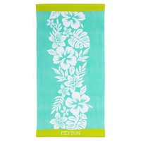 Hibiscus Pool Beach Towel