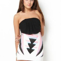 Triangle Print Tube Dress