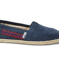 Embroidered Navy Women&#x27;s Classics | TOMS.com