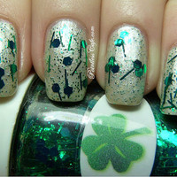 Shamrock Nail Polish by TheNailJunkie on Etsy