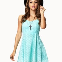 Fit &amp; Flare Eyelet Dress | FOREVER 21 - 2039925131