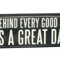 Great Dad Black & White Wood Box Sign 4