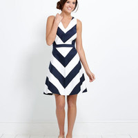 Shop Womens Summer Dresses: Awning Stripe Halter Dress - Vineyard Vines