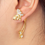 Diamond and Butterfly Single 3D Ear Cuff | LilyFair Jewelry