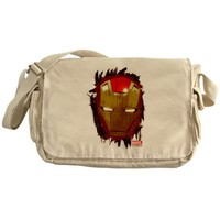 Iron Man Mask Messenger Bag on CafePress.com