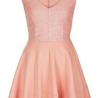 Sequin Bodice Skater Dress - New In This Week - New In - Topshop