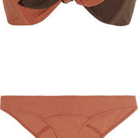 Lisa Marie Fernandez|Poppy textured bandeau bikini|NET-A-PORTER.COM