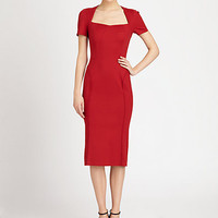 Zac Posen - Cap-Sleeve Stretch Dress