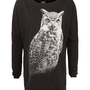 Only Black Owl Print Willa Sweater