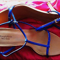 VERA WANG SHOES AXIOM BLUE  T STPAPS SANDALS  ! SIZE 10/42 M