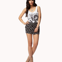 Zip Pocket Floral Shorts | FOREVER 21 - 2050429901