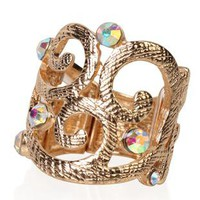 swirl design stretch ring with stones - 1000050902 - debshops.com