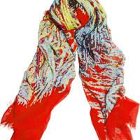 Marc by Marc Jacobs|Printed modal scarf|NET-A-PORTER.COM
