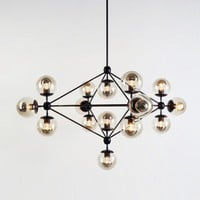 Modo Chandelier - 4 Sided, 15 Globes - Furniture + Lighting - Dining