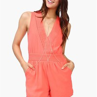 Paradise Romper - Coral
