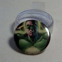 Comic Book 1.5&quot; Button// Green Lantern Hal Jordan