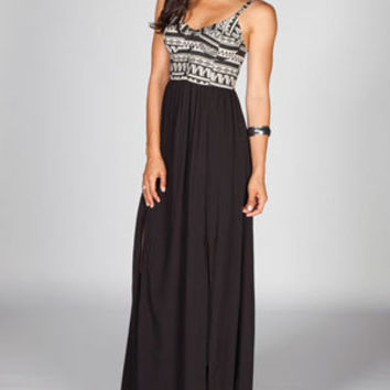 FULL TILT Ethnic Print Corset Maxi Dress