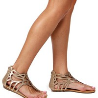 Gold Laser Cutout Sandals