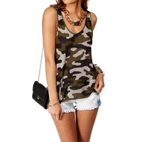 Camouflage Knit Tank