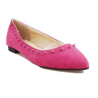 Roseo Suede PU Leather Studded Slipper Shoes