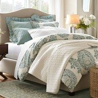 Lucianna Medallion Duvet Cover &amp;amp; Sham - Blue