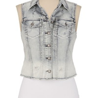 Silver Jeans Co. ® Destructed Denim Vest