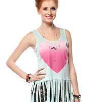 Papaya Clothing Online :: HEART FRINGE TOP