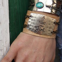 FIGHT LIKE A GIRL CUFF