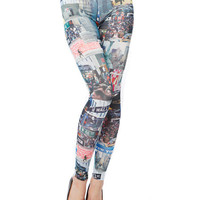 Papaya Clothing Online :: NEW YORK CITY PATTERN LEGGINGS