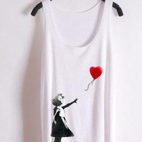 Banksy Red Heart Tank