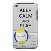 Keep Calm and Play Beach Volleyball iPod Case from Zazzle.com