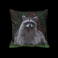 Forest Raccoon Pillows from Zazzle.com